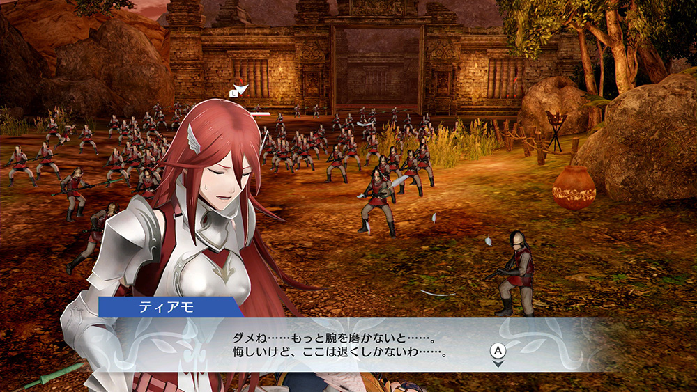 Cordelia being permanently wounded, with a special cutscene (in Japanese text) to hammer in the point.